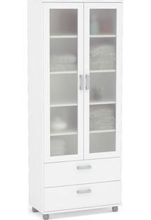 Estante Livramento 2 Portas Com Vidro 23540006 Branco - Politorno