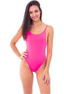 Body Moda Vício Decote Costas Alça Fina - Feminino-Pink
