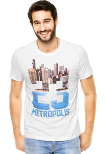 Camiseta Manga Curta Colcci Metropolis Branca