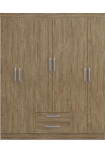 Guarda-Roupa Casal C/ Espelho 6 Portas 2 Gavetas Turquesa Decibal Moveis Wood