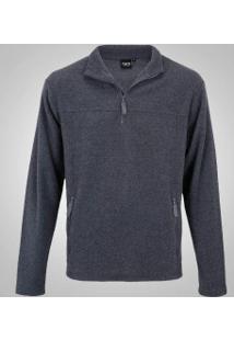 Blusa Fleece Nord Outdoor Basic - Masculina - Cinza Escuro