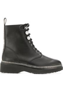 Michael Michael Kors Ankle Boot 'Tavie' De Couro - Preto