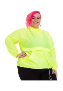 Blusão Corta-Vento Wonder Size Sabiha - Feminino - Amarelo Fluor