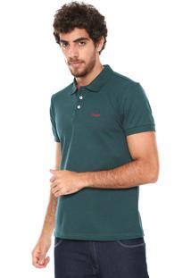 ... Camisa Polo Wrangler Reta Wrangler Verde a6c98c690bb