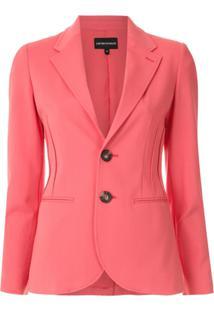 Emporio Armani Blazer Com Recortes - Rosa