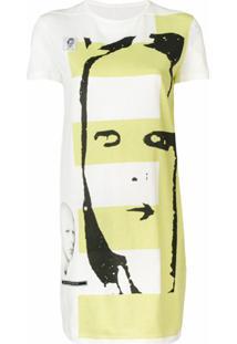 Rick Owens Drkshdw Túnica Com Estampa Gráfica - Branco