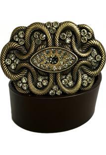 Cinto Cintos Exclusivos Com Cristais Black Diamond Marrom