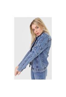 Jaqueta Jeans Lança Perfume Trucker Azul