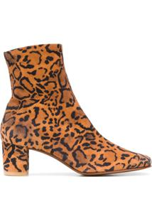 By Far Ankle Boot Sofia Com Estampa De Leopardo - Marrom