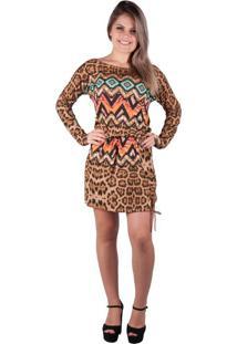 7ccb0f515b Vestido Basico Marrom feminino