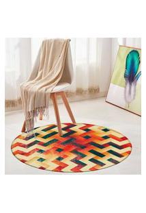 Tapete Redondo Wevans Geométrico Color 94Cm
