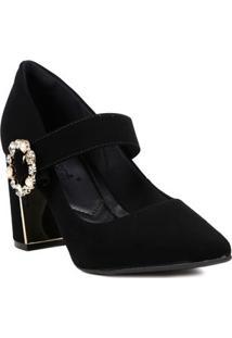 Sapato De Salto Scarpin Feminino Bebecê Preto
