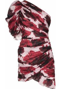 Alexandre Vauthier Vestido Com Ombro Único E Estampa Floral - Vermelho