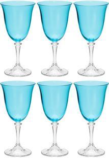 Jogo De Taças Para Água 6 Peças 360 Ml Kleopatra - Bohemia - Azul