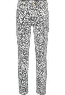 Frame Calça Jeans Reta Com Animal Print 'Le High' - Preto