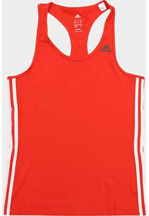 Regata Adidas D2M 3S Feminina - Feminino-Vermelho
