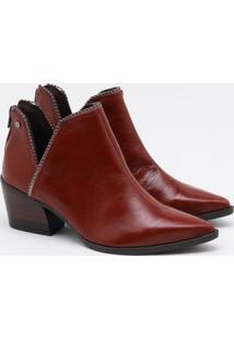 Ankle Boot Tanara Couro Terracota