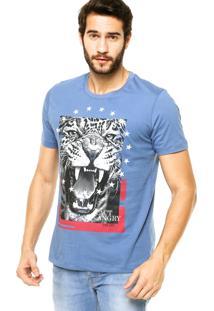 Camiseta Manga Curta Colcci Onça Azul