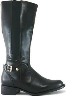 Bota Rr Shoes Montaria - Feminino-Preto