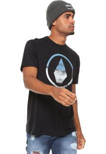 Camiseta Volcom Canvas Stone Preta