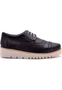 Oxford Top Franca Shoes Casual Feminino - Feminino-Preto