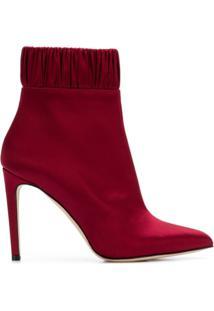 Chloe Gosselin Ankle Boot Com Franzido - Vermelho