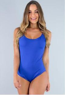 Body Bojo Alcinha Collant Regata Costa Fechada Mvb Modas Feminino - Feminino-Azul