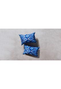 Capa De Almofada Neri Cor: Azul - Tamanho: Único