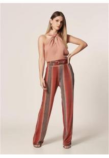 Calça Mob Pantalona Listrado Degradê Feminina - Feminino
