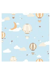 Papel De Parede Balões Para Quarto De Bebê 57X270Cm