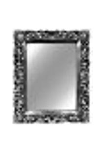 Espelho Provençal Decorativo Prata 56,5X82X4Cm