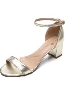 Sandália Thelure Metalizada Dourada