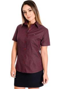 Camisa Pimenta Rosada Aimeé - Feminino-Vermelho Escuro