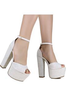 Sandália De Noivas Zariff Shoes Salto Alto