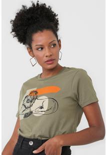 Camiseta Dzarm Estampada Verde