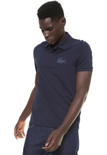 Camisa Polo Lacoste Slim Fit Azul-Marinho
