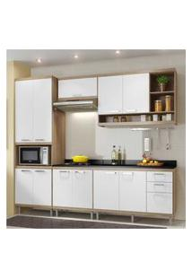 Cozinha Completa Multimóveis Com 6 Peças Sicília 5809 Argila/Branco