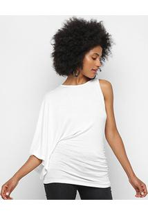 Blusa Forum Lisa Assimétrica Feminina - Feminino-Off White