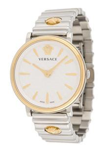 Versace Relógio Redondo Logomania Edition - Metálico