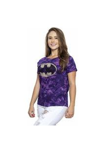 Camiseta Sideway Batman Tye Die - Roxa