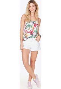 Blusa Tropical - Branca & Verdemalwee