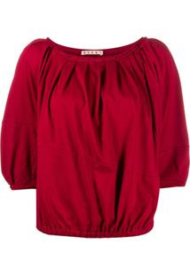 Marni Blusa Com Mangas 3/4 - Vermelho