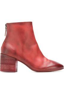 Marsèll Ankle Boot De Couro - Vermelho