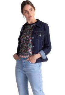 Jaqueta Jeans Levis Trucker - 30013 - Feminino-Azul Escuro