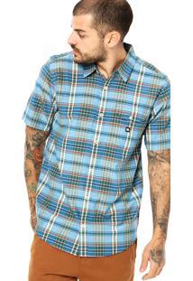 Camisa Manga Curta Dc Shoes Dignan Azul
