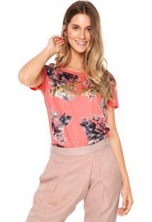 Camiseta Facinelli Floral Coral