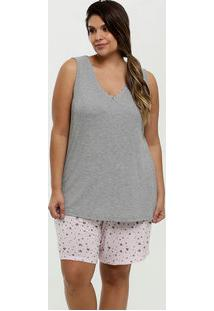 Pijama Feminino Estampa Coração Plus Size Marisa