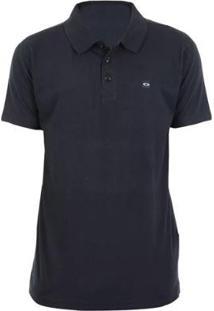 Camiseta Polo Oakley Patch - Masculino-Preto