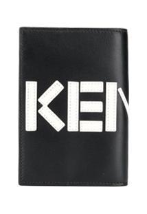 Kenzo Carteira Com Estampa Logo - Preto