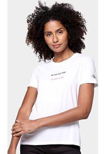Camiseta Calvin Klein Estampada Manga Curta Feminina - Feminino